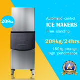 Hot Sale Stainless Steel Modular Ice Machine with Storage Bin