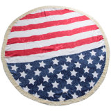 Cheap Polyester Round Beach Towel (sweet printing design)
