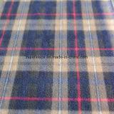 100% Polyester Check Print Polar Fleece with Antipilling