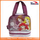 Portable Branded Princess Silk Screen School Lunch Bags
