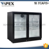 Glass Double Door Back Bar Cooler for Beverage Drink Bar Fridge