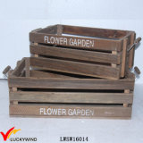 Farmhouse Antique Recycled Fir Crate Wooden Planter