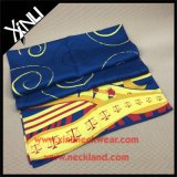 Long Shape Custom Printing 100% Silk Designer Scarf