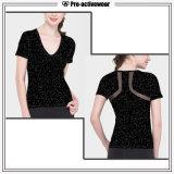 Spandex Sports Wear Compression T Shirts Custom Women Gym Wear