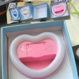 Factory Price Heart Shaped Selfie Flash Light with Mirror