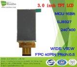 """3.0"""" 240X400 MCU TFT LCD Module, Ili9327, 40pin for POS, Doorbell, Medical"""
