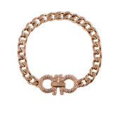 Personalized Women Jewelry Fashion Stainless Steel Charm Diamond Bracelet