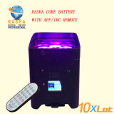 High Quality New Product 4*18W 6in1 Rgbaw UV Battery Powered Wireless LED PAR Can Irc Remote Control 6/10CH Stage Light