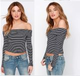 Wholesale Summer Women Tops Knnited Sexy Ladies Blouse