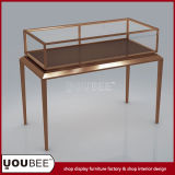 High End Jewelry Display Showcase, Stainless Steel Jewelry Display Cabinet