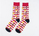 Custom Fashion Knee High Cotton Jacquard Unisex Sock