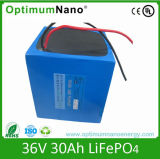 36V 30ah Lithium Iron Battery for Electric Skateboard