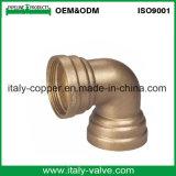Hot Sell Bronze Equal Elbow/Red Brass Elbow (AV-QT-1032)