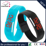Fashion Simple Gift Silicone Rubber Wristband LED Watch (DC-610)