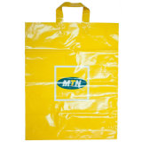 Sell Plastic Bags with Loop Handle, Printed Plastic Bags with Customized Design (HF-506)