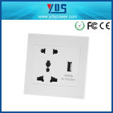 Universal Wall Socket 5V 110V-250V with Double USB Wall Socket