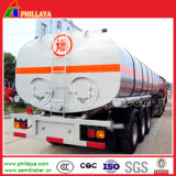 35m3 3axles Liquid Heating Truck Semi Bitumen Tank Trailer