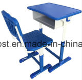 Furniture Plastic Student Desk with Open Front Metal Book Box