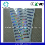 Paper & Plastic Hologram Scratch Card