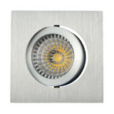 Lathe Aluminum GU10 MR16 Square Tilt Recessed LED Ceiling Light (LT2201)