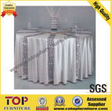 Classy White Polyester Banquet Table Cloth
