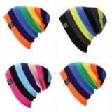 Custom Colorful Fashion Stripped Beanie, Winter Warm Beanie, Jacquard Beanie, Knitted Beanie in Various Size, Material, and Design