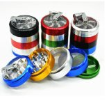 4 Parts Colorful Grinder, Aluminium 63mm Colored Herb Grinder