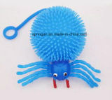 Kids Plastic Toy with Flash Fuzzy Ball Spider
