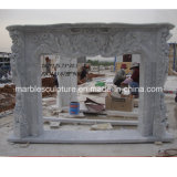 Professional Factory Price Marble Fireplace Mantel (SY-MF173)
