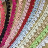 Colorful Water Soluble Lace Flower Embroidery Lace