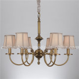 Graceful Decorative Iron Chandelier Lamp with Fabric Shade (SL-2111-6)