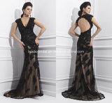 Black Evening Formal Gowns Applique Ladies Fashion Dresses Z1014