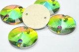 Rainbow Glass Sew on Stones Sew on Rhinestone Button (SW- rivoli 18mm rainbow)