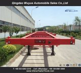 3 Fuwa Axle 40FT Skeleton Container Chassis with Jost Kingpin