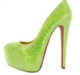 Fashion Heel High Ladies Crystal Shoes (HCY02-001)