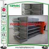 End Cap Gondola Shelves with Wire Basket Shelf Accessories