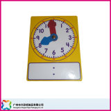 Educational Paper/Wooden Game Board Write on & Wipe off Clock (xc-9-012)