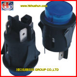 Waterproof Round Oval Push Button Switch (RL5-1D-BLB-O)