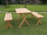 Wood Garden Furniture Foldble Table Sets Outdoor Dining Set
