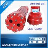 Nickel-Alloy Steel Ql80-254mm DTH Bit for Drilling
