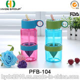 Plastic Kid Zinger Fruit Infusion Water Bottle with Straw (PFB-104)