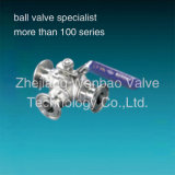 Ss316 Quick Clamp Three Way Sanitary Ball Valve