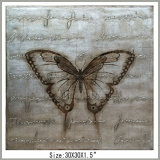Butterfly Canvas Wall Painting with Foil Finished, New Development (LH-700501)