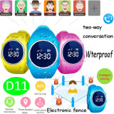 Ios/Android Pedometer Waterproof Kids/Child GPS Tracker Watch for Gift D11