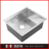 Custom Made Hand Make Single Undercounter Stainless Steel Kitchen Sink