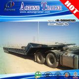 80tons Folding Gooseneck Low Bed Semi Truck Trailer