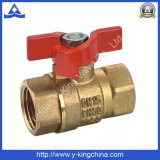 FM Brass Ball Valve with Zinc Butterfly Handle (YD-1009)