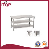 S/S Three Layers Worktable with Under Shelf (WT-W02)