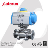 Pneumatic Clamp End 3 Pieces Ball Valve