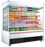 Vertical Open Display Cooler Commercial Refrigerated Multideck Supermarket Showcase